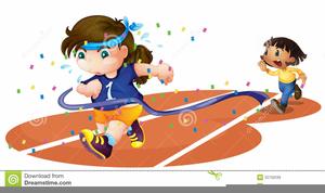 Girls Running Clipart.