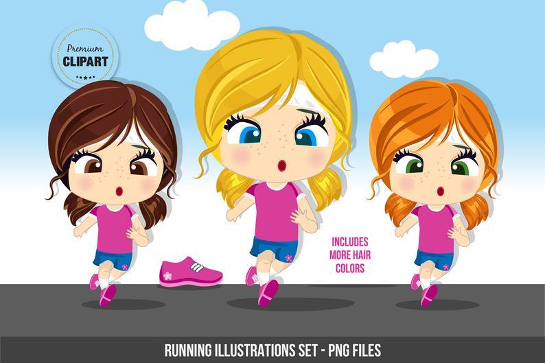 Running clipart, Fitness graphics, Sport girls clipart, gym images, sport  graphics, running shoes.