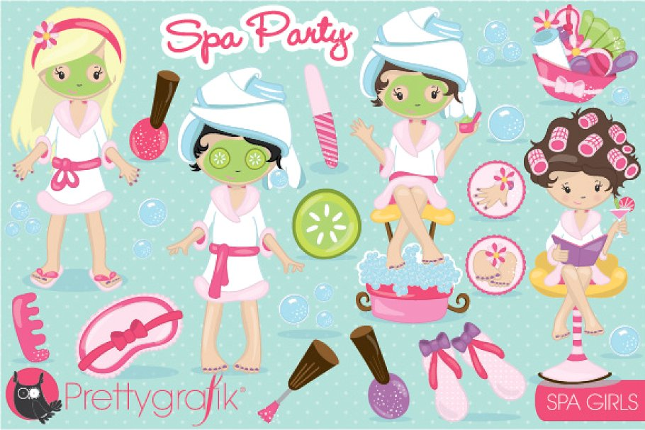 Spa girls clipart.