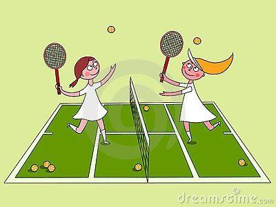 Girls Tennis Clipart.