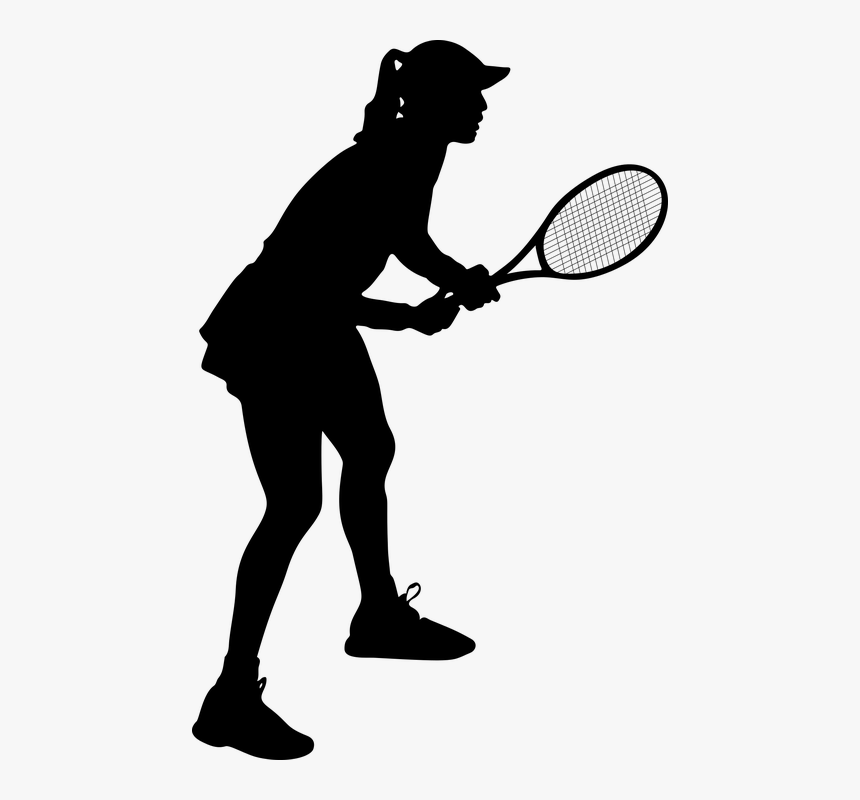 Female, Tennis, Silhouette, Woman, Girl, Lady, Sports.