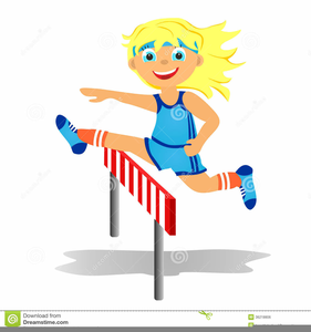 Girls Track Clipart.