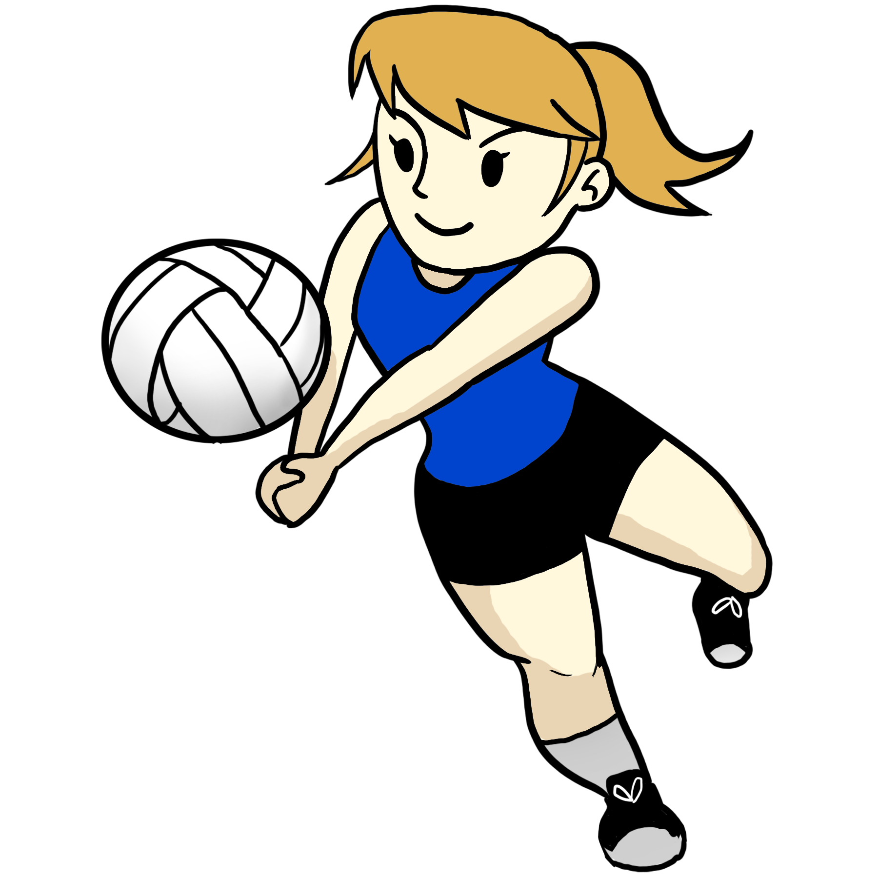 Cartoon Volleyball Cliparts.