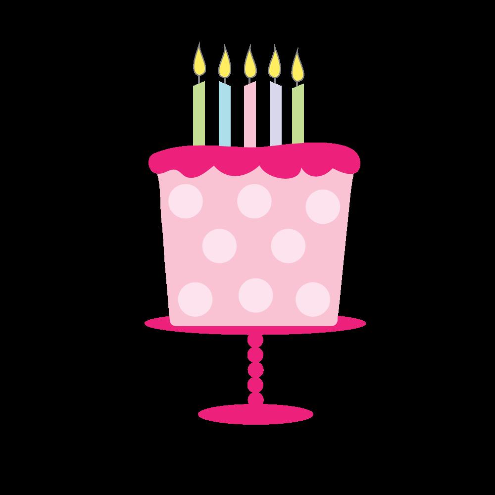 Girly Birthday Cake Clipart.