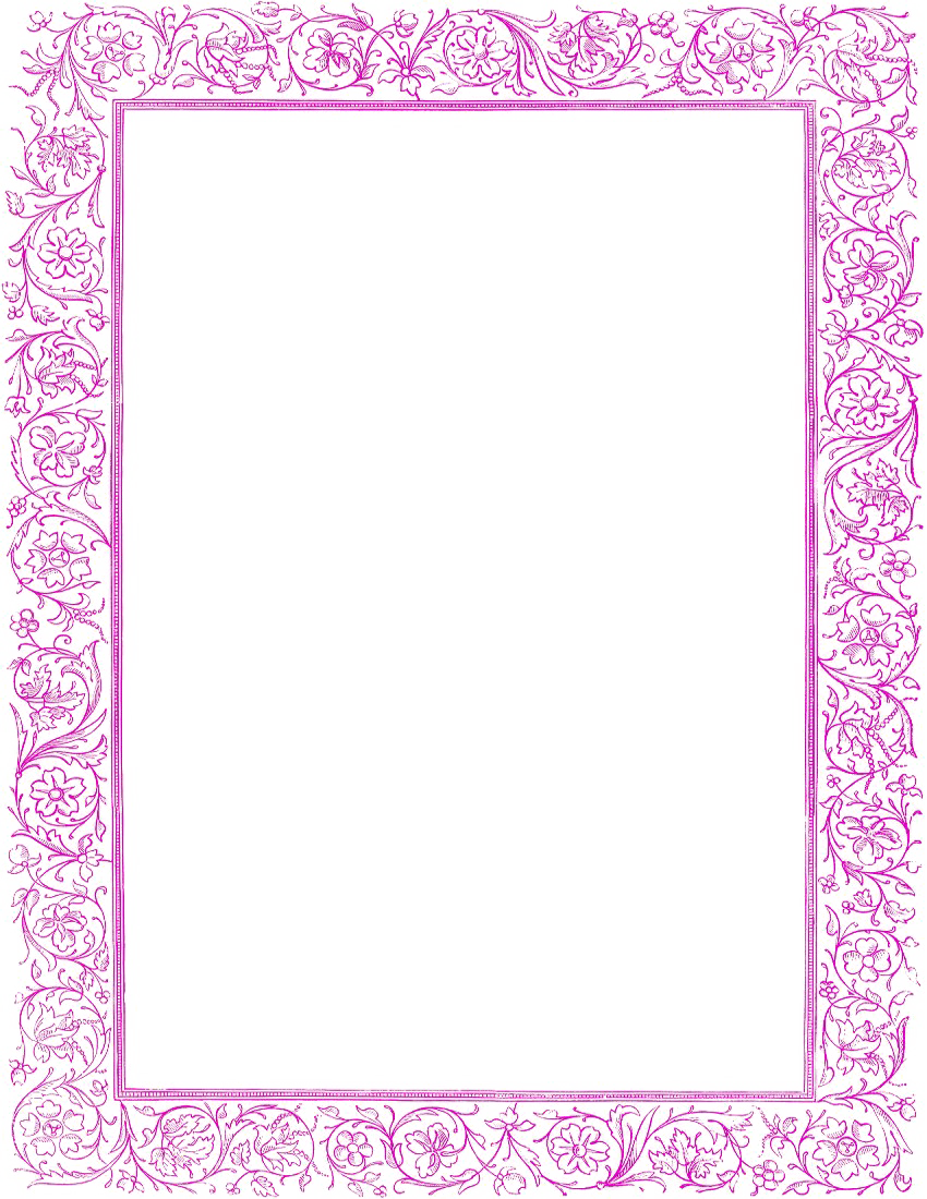 Girly Border PNG Images Transparent Free Download.