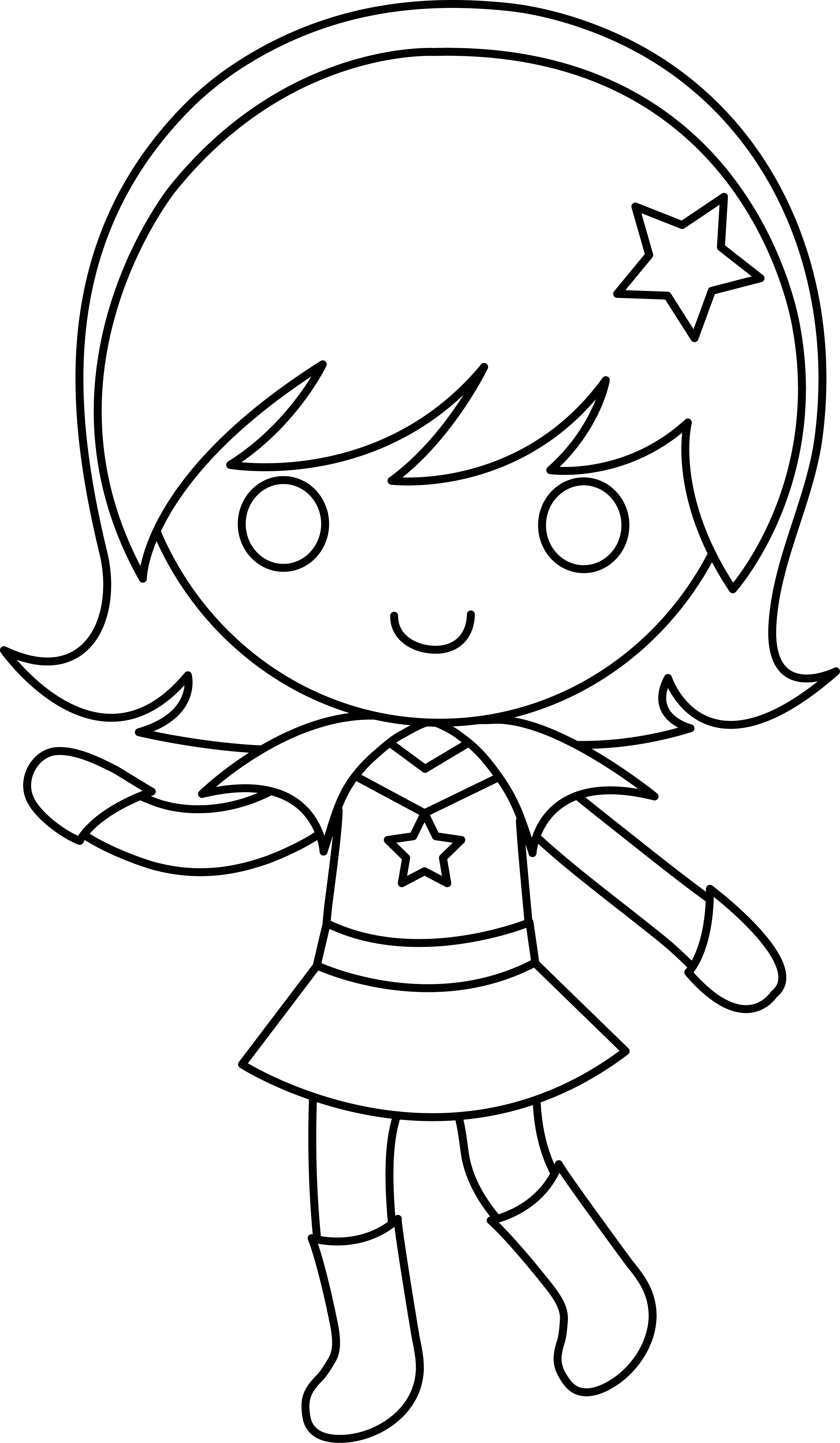 Girly clipart black and white, Girly black and white.