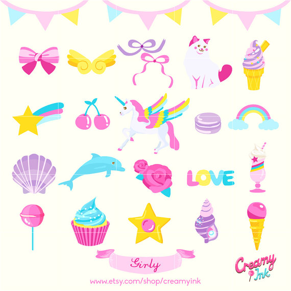 Cute Girly Clipart & Free Clip Art Images #40422.