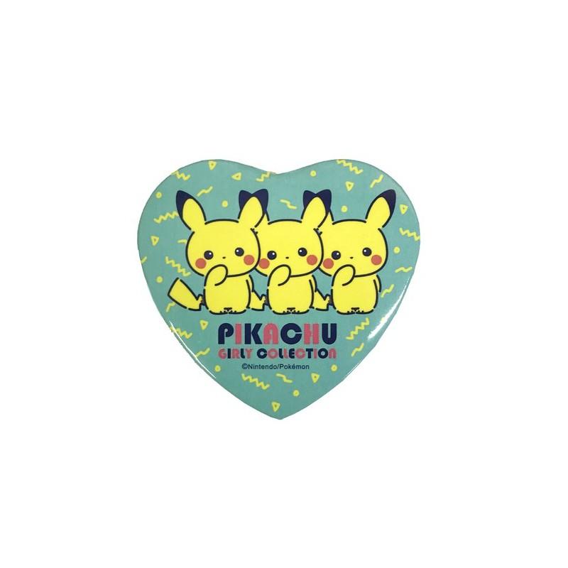 Badge Heart Girly Logo Pikachu.