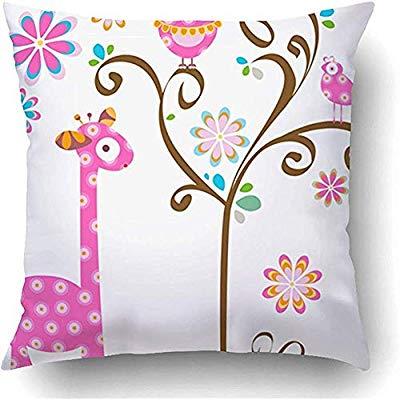 Amazon.com: YunnStr0u Throw Pillow Covers Pink Girly Giraffe.