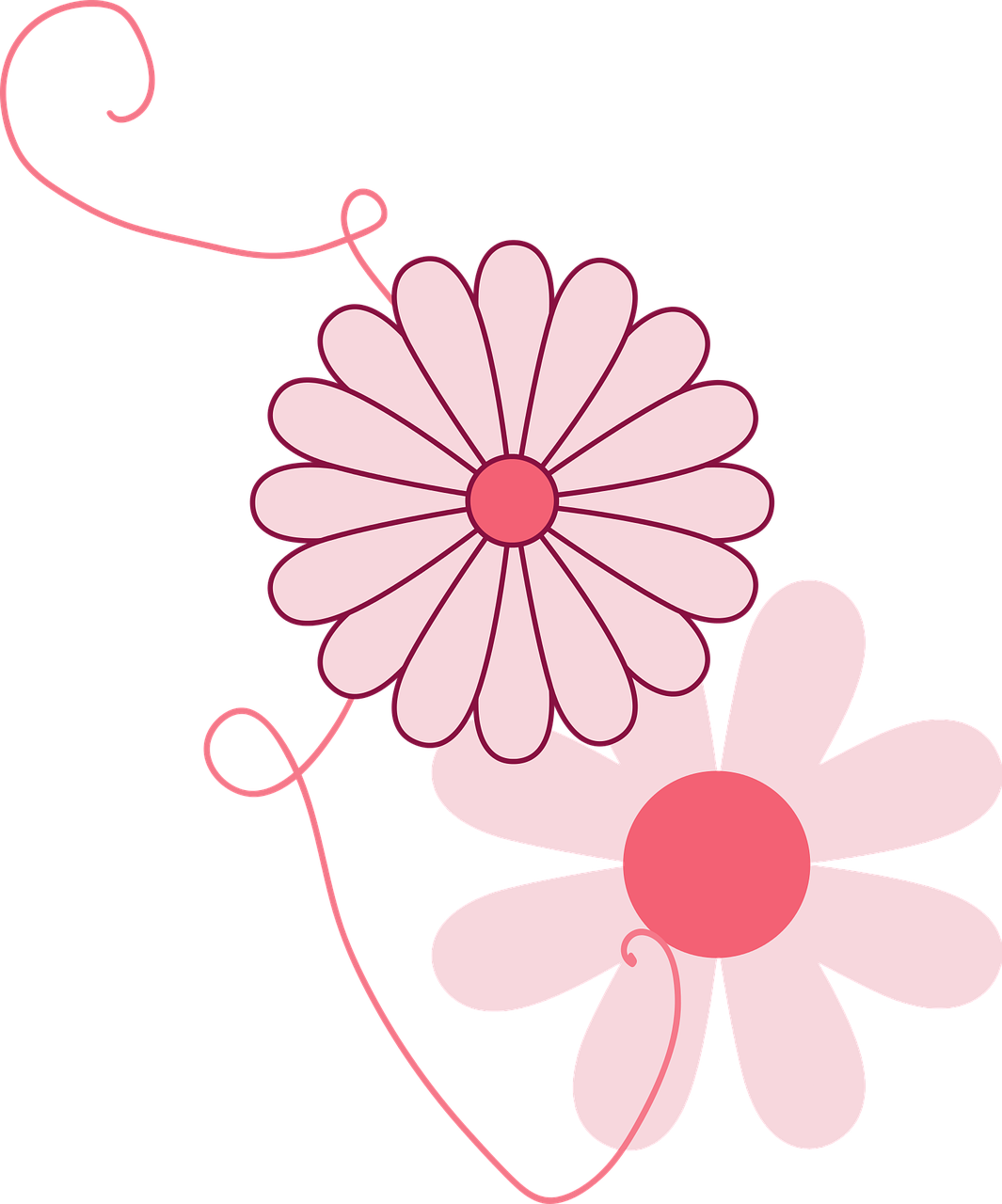 Flowers Spring Ornament Girly PNG.
