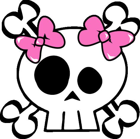 Imgs For > Girly Skulls Clipart.