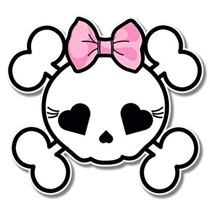 Amazon.com: Skull Crossbones Cute with Bow Girly Vinyl.