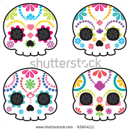 Simple Sugar Skull Clipart.