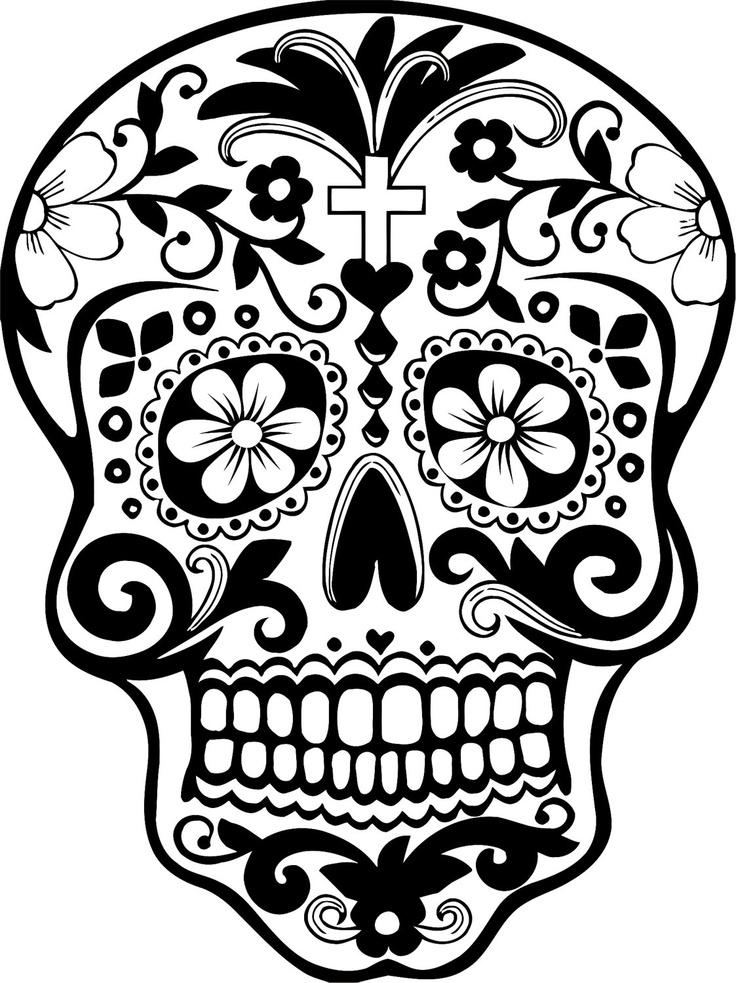 Clipart Sugar Skull.