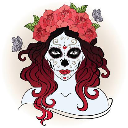 Showing post & media for Cartoon sugar skulls girly.