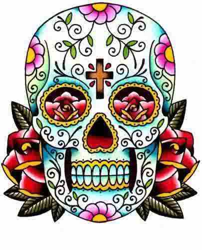 Sugar Skull Drawings Clipart.