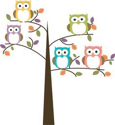 Girly Tree Clipart.