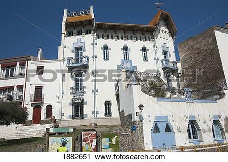 Stock Photography of White Building; Cadaques, Girona, Catalonia.