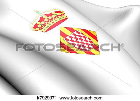 Clipart of Girona coat of arms, Spain. k7929371.