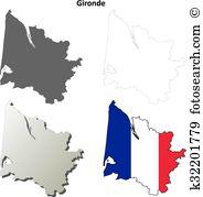 Gironde Clip Art Illustrations. 9 gironde clipart EPS vector.