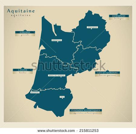 Gironde Map Stock Vectors & Vector Clip Art.