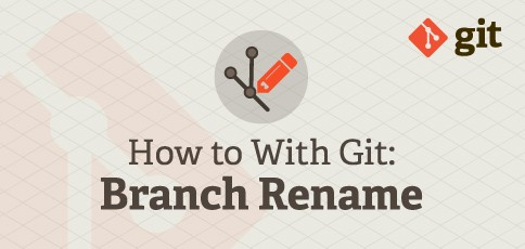 How to With Git: Rename Branch.