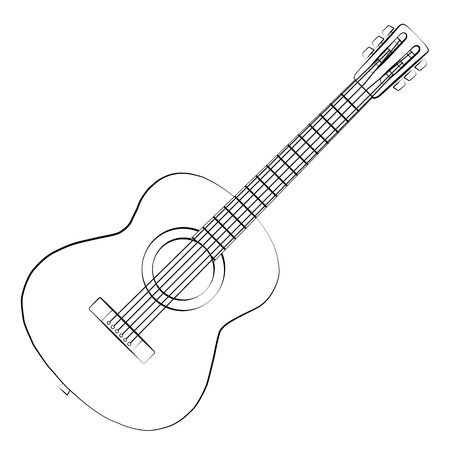 Gitara clipart black and white 3 » Clipart Station.