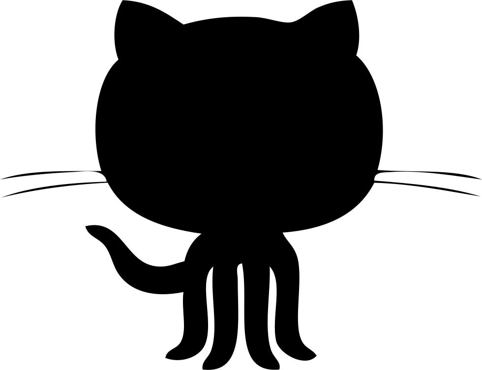 Github Logo Black Shape Svg Png Icon Free Download (#44261.