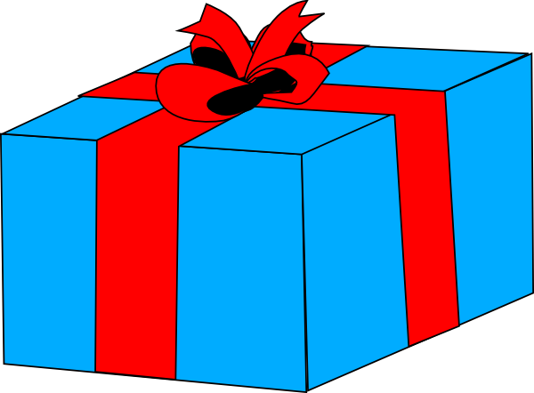 Gift Clipart Black And White.