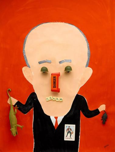 Hanoch Piven, Illustrator(Rudy Giuliani) : Heflinreps Illustration.