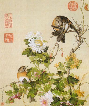 Album of Flower Paintings, Leaf 14, Lang Shining (Giuseppe.
