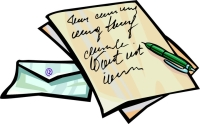 Letter of paper clipart.