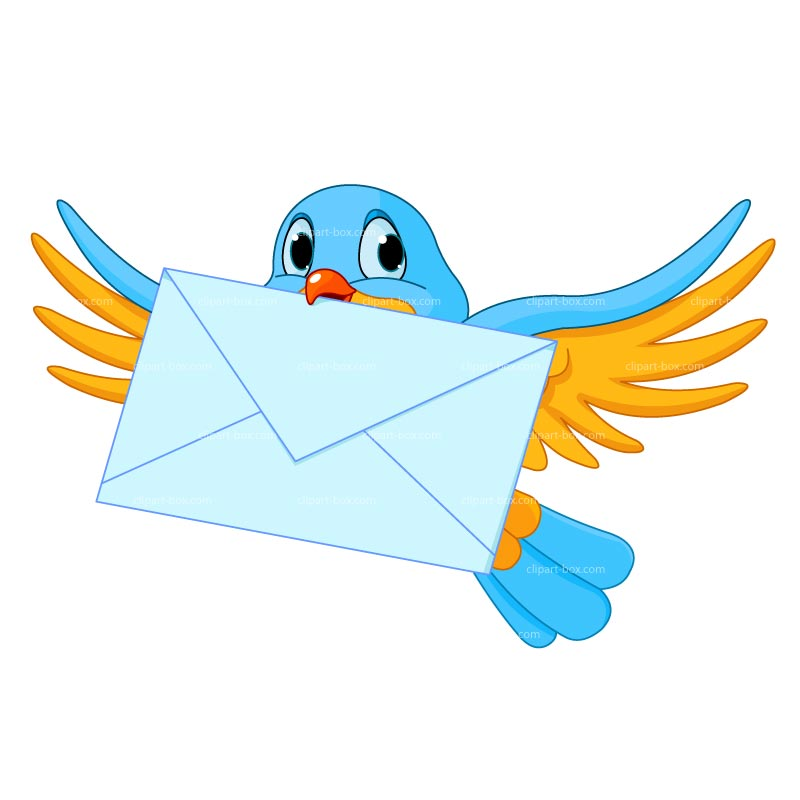 Clipart Bird Cartoon With Letter Royalty Free Vector Design.