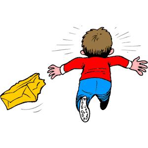 Boy Running Away Clipart.