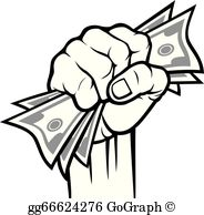 Hand With Money Clip Art.