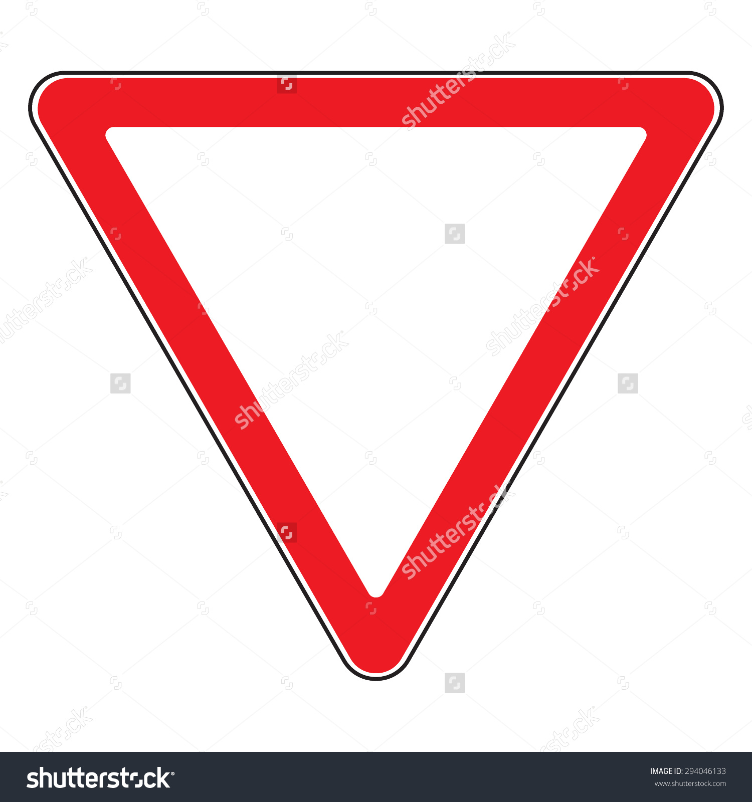 Design Yield Triangular Road Sign Road Stock Vector 294046133.