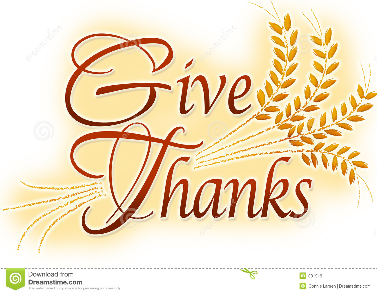 Give Thanks stock illustration. Illustration of clipart.