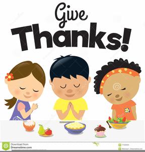 Children Giving Thanks Clipart.