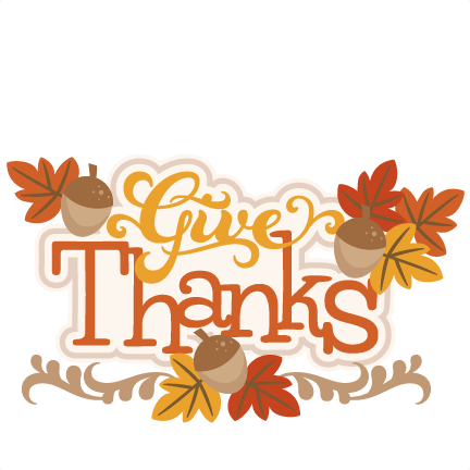 Give Thanks SVG cutting file thanksgiving svg cuts cute clip art.