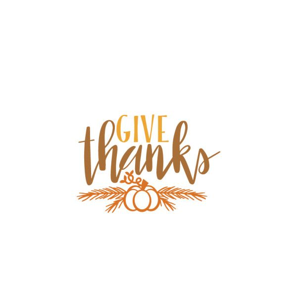 Give Thanks Thanksgiving phrase SVG scrapbook cut file cute clipart.