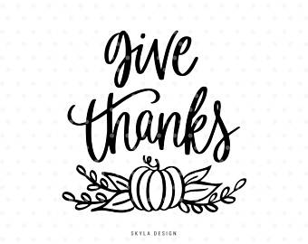 Give Thanks Clip Art Black And White (103+ images in Collection) Page 1.