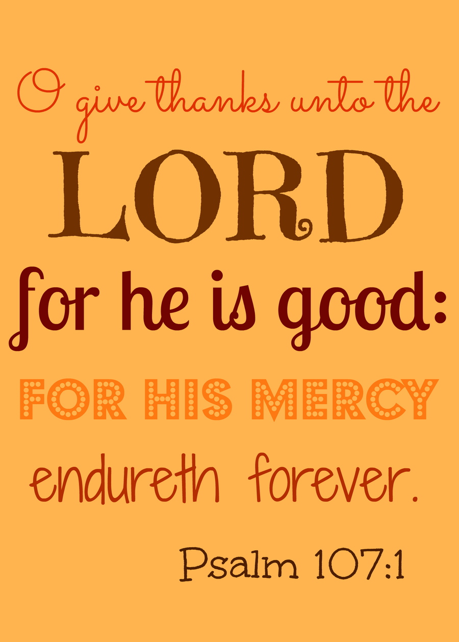 Download oh give thanks to the lord clipart Psalms Religious text.