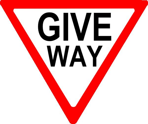 Give Way Sign Clip Art at Clker.com.