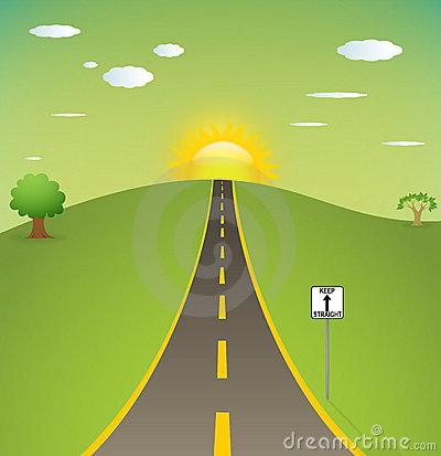 Sun Road Clipart.