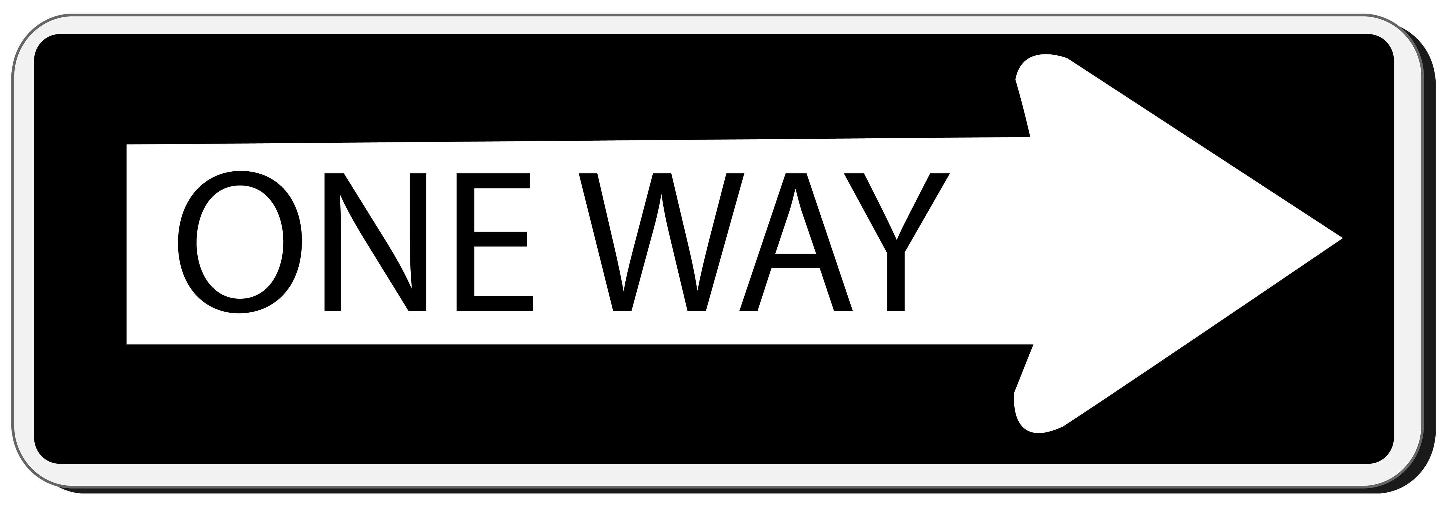 One Way Sign PNG Clipart.