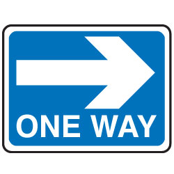 One way road signs and clipart.