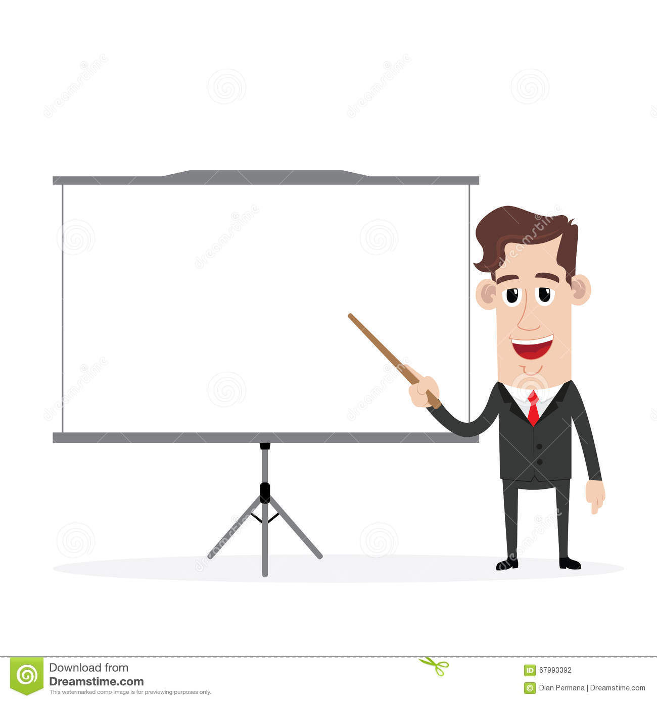 Businessman Giving A Presentation Stock Vector.