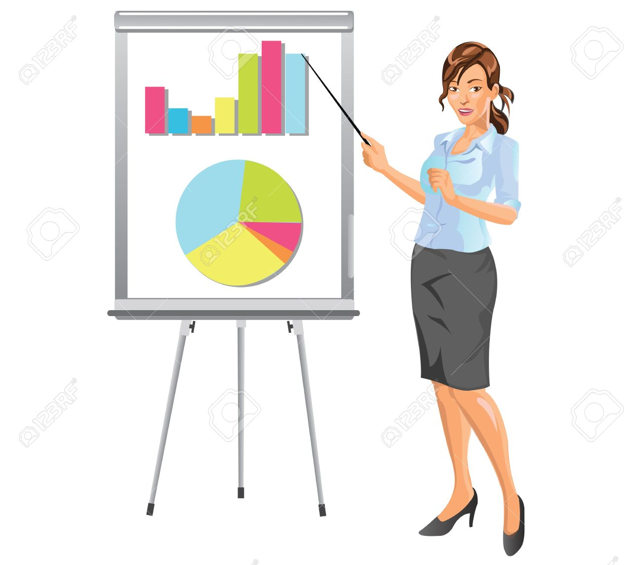 Businesswoman Giving Presentation in Business Meeting.
