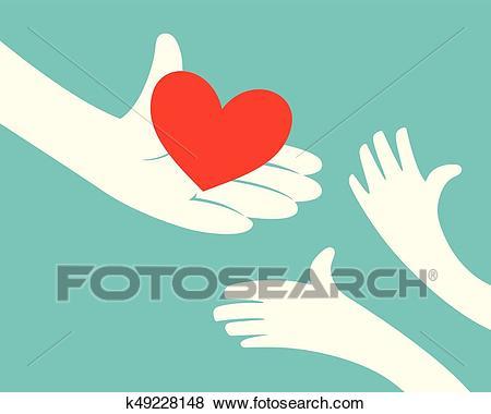 Heart giving Clip Art.