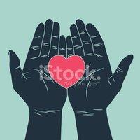 Hand Giving Love Symbol stock vectors.